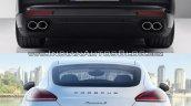2017 Porsche Panamera vs. 2014 Porsche Panamera rear