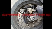 Bajaj Pulsar CS400 rear wheel spy shot