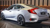 India-bound 2016 Honda Civic rear three quarter launched in Malaysia