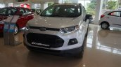 India-spec Ford EcoSport Black Edition headlamp, grille, bumper images