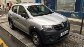 Renault Kwid front three quarters spy shot France