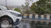 Tata Hexa front end photographed testing