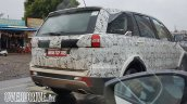 Tata Hexa rear three quarter photographed testing