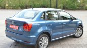 VW Ameo 1.2 Petrol rear three quarters Review