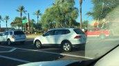 2016 VW Tiguan LWB rear three quarters left side spy shot