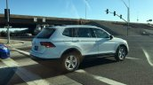 2016 VW Tiguan LWB rear three quarters spy shot