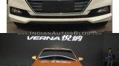2017 Hyundai Verna front Concept vs Reality