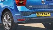 2017 VW Polo rear fascia rendering