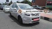 Mahindra MPV (Toyota Innova rival) front spied testing in Chennai