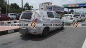 Mahindra MPV (Toyota Innova rival) rear spied testing in Chennai