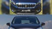 (Maruti) Suzuki S-Cross facelift vs Older model front Old vs New