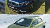 (Maruti) Suzuki S-Cross facelift vs Older model front three quarter Old vs New