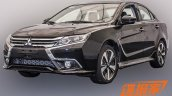 Mitsubishi Lancer facelift front quarter with revolutionary styling leaked