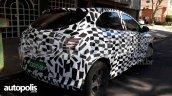New Chevrolet Onix (facelift) rear three quarters right side spy shot