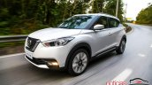 Nissan Kicks official image front three quarters left side in motion second image