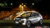 Nissan Kicks official image front three quarters left side night view standstill