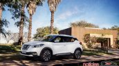Nissan Kicks official image front three quarters left side standstill