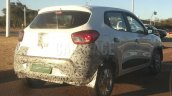 Renault Kwid rear three quarters right side spy shot
