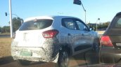 Renault Kwid rear three quarters spy shot