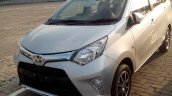 Toyota Calya front three quarters spy shot