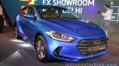2016 Hyundai Elantra blue front quarter launched in India