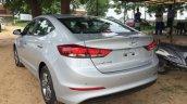 2016 Hyundai Elantra rear three quarter fully revealed in India, arrives at dealer yard
