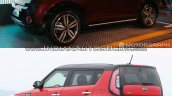2016 Kia Soul (facelift) vs. 2014 Kia Soul rear three quarters