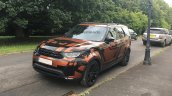 2017 Land Rover Discovery front three quarters spy shot