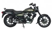 Bajaj Avenger Cruise 220 Matte Wild Green side profile