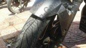 Bajaj Pulsar CS400 tyre spy shot