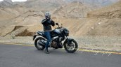 Bajaj Pulsar VS 400 front three quarter spied in Ladakh ahead of launch