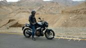 Bajaj Pulsar VS 400 side spied in Ladakh ahead of launch
