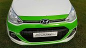 Hyundai Grand i10 Independence Day Edition front end seen at dealership