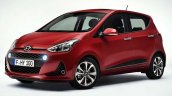 Hyundai i10 facelift front three quarter revealed for Europe