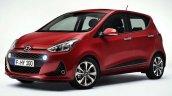 Hyundai i10 facelift front three quarter revealed for Europe