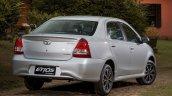 India-bound Toyota Etios Platinum (facelift) rear quarter revealed in Brazil