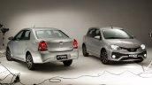 India-bound Toyota Etios Platinum (facelift) sedan and hatchback revealed in Brazil