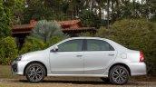 India-bound Toyota Etios Platinum (facelift) side revealed in Brazil