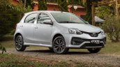 India-bound Toyota Etios Platinum hatchback (facelift) front quarter revealed in Brazil