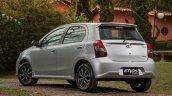 India-bound Toyota Etios Platinum hatchback (facelift) rear quarter revealed in Brazil