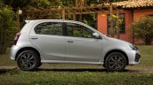 India-bound Toyota Etios Platinum hatchback (facelift) side revealed in Brazil