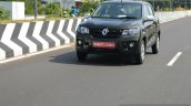 Renault Kwid 1.0 MT front quarter dynamic First Drive Review