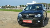 Renault Kwid 1.0 MT front quarter left First Drive Review