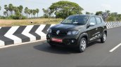 Renault Kwid 1.0 MT front three quarter dynamic First Drive Review