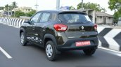 Renault Kwid 1.0 MT rear quarter dynamic First Drive Review