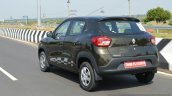 Renault Kwid 1.0 MT rear quarter left dynamic First Drive Review