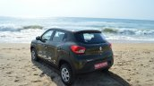 Renault Kwid 1.0 MT rear quarter top First Drive Review