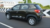 Renault Kwid 1.0 MT rear three quarter dynamic First Drive Review