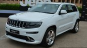 SRT Grand Cherokee front three quarter launched in India