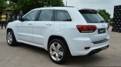SRT Grand Cherokee rear three quarter launched in India
